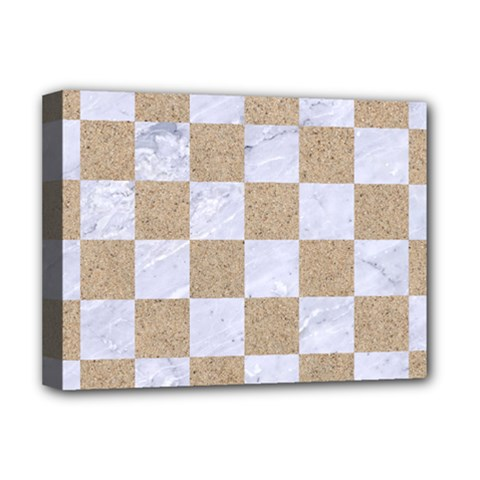 Square1 White Marble & Sand Deluxe Canvas 16  X 12