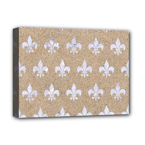 Royal1 White Marble & Sand (r) Deluxe Canvas 16  X 12