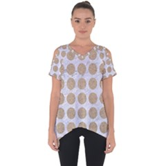 Circles1 White Marble & Sand (r) Cut Out Side Drop Tee