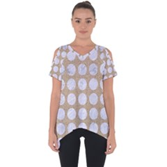 Circles1 White Marble & Sand Cut Out Side Drop Tee