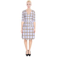 Circles1 White Marble & Sand Wrap Up Cocktail Dress