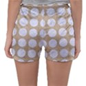 CIRCLES1 WHITE MARBLE & SAND Sleepwear Shorts View2