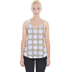Circles1 White Marble & Sand Piece Up Tank Top