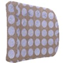CIRCLES1 WHITE MARBLE & SAND Back Support Cushion View2