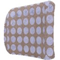 CIRCLES1 WHITE MARBLE & SAND Back Support Cushion View3