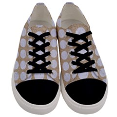 Circles1 White Marble & Sand Men s Low Top Canvas Sneakers
