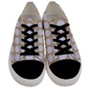 CIRCLES1 WHITE MARBLE & SAND Men s Low Top Canvas Sneakers View1