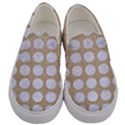 CIRCLES1 WHITE MARBLE & SAND Men s Canvas Slip Ons View1