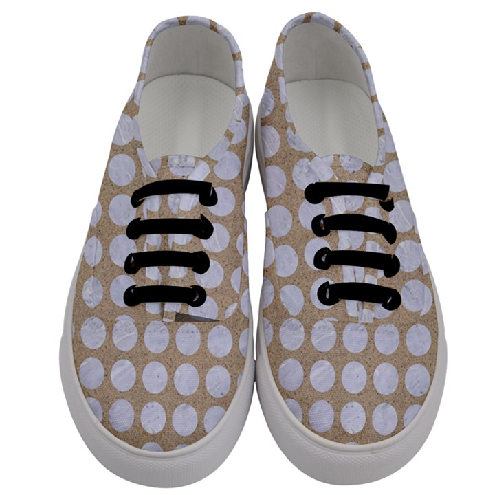 CIRCLES1 WHITE MARBLE & SAND Men s Classic Low Top Sneakers