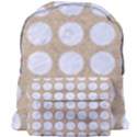 CIRCLES1 WHITE MARBLE & SAND Giant Full Print Backpack View1