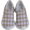 CIRCLES1 WHITE MARBLE & SAND Kid s Lightweight Slip Ons View1