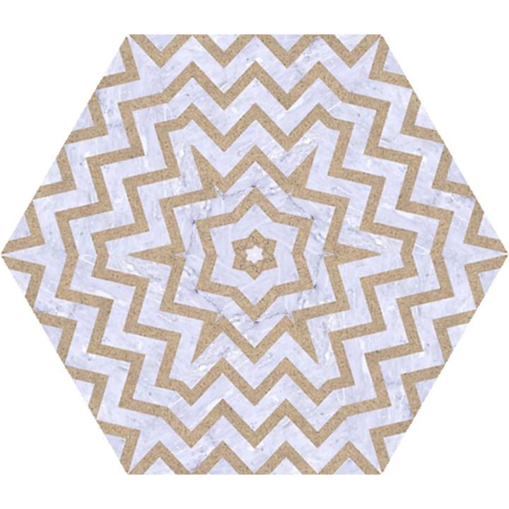CHEVRON9 WHITE MARBLE & SAND (R) Mini Folding Umbrellas