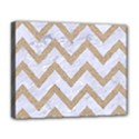 CHEVRON9 WHITE MARBLE & SAND (R) Deluxe Canvas 20  x 16   View1
