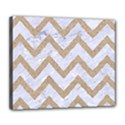 CHEVRON9 WHITE MARBLE & SAND (R) Deluxe Canvas 24  x 20   View1