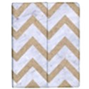 CHEVRON9 WHITE MARBLE & SAND (R) Apple iPad Mini Flip Case View1