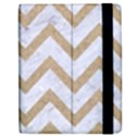 CHEVRON9 WHITE MARBLE & SAND (R) Apple iPad Mini Flip Case View2