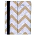 CHEVRON9 WHITE MARBLE & SAND (R) Samsung Galaxy Tab 10.1  P7500 Flip Case View2