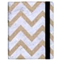 CHEVRON9 WHITE MARBLE & SAND (R) Samsung Galaxy Tab 10.1  P7500 Flip Case View3