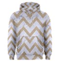 CHEVRON9 WHITE MARBLE & SAND (R) Men s Pullover Hoodie View1
