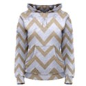 CHEVRON9 WHITE MARBLE & SAND (R) Women s Pullover Hoodie View1