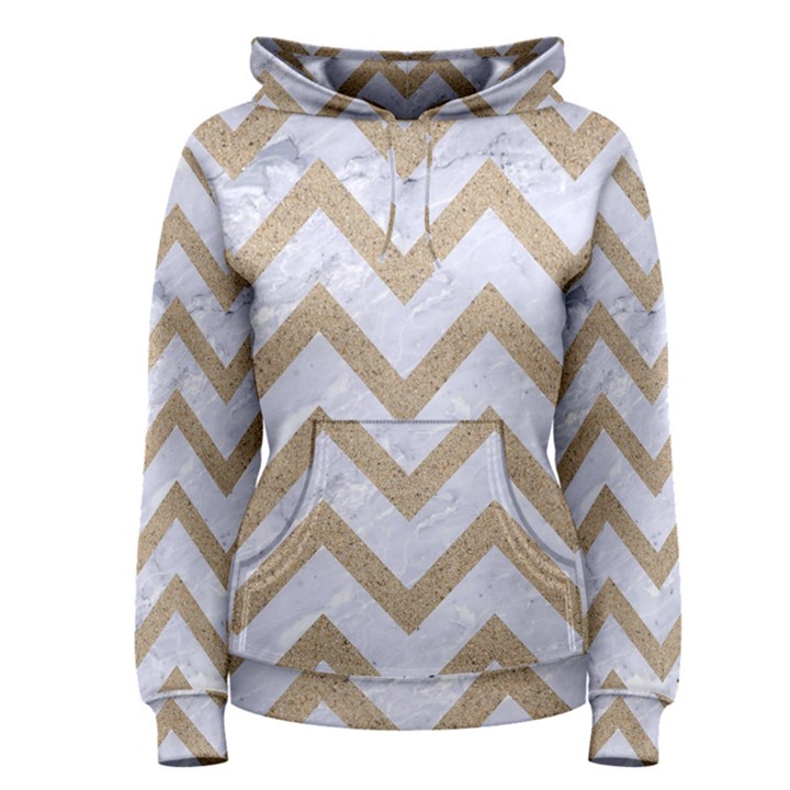 CHEVRON9 WHITE MARBLE & SAND (R) Women s Pullover Hoodie