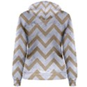 CHEVRON9 WHITE MARBLE & SAND (R) Women s Pullover Hoodie View2