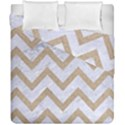 CHEVRON9 WHITE MARBLE & SAND (R) Duvet Cover Double Side (California King Size) View1