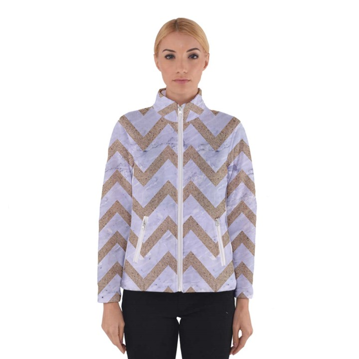 CHEVRON9 WHITE MARBLE & SAND (R) Winterwear