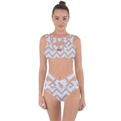 Chevron9 White Marble & Sand (r) Bandaged Up Bikini Set