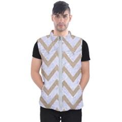 Chevron9 White Marble & Sand (r) Men s Puffer Vest