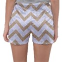 CHEVRON9 WHITE MARBLE & SAND (R) Sleepwear Shorts View2