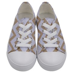 Chevron9 White Marble & Sand (r) Kids  Low Top Canvas Sneakers