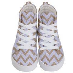 Chevron9 White Marble & Sand (r) Kid s Hi Top Skate Sneakers