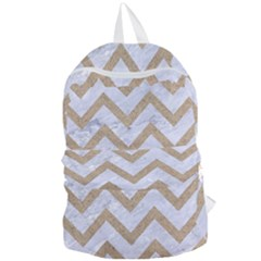 Chevron9 White Marble & Sand (r) Foldable Lightweight Backpack