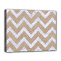 CHEVRON9 WHITE MARBLE & SAND Canvas 14  x 11  View1