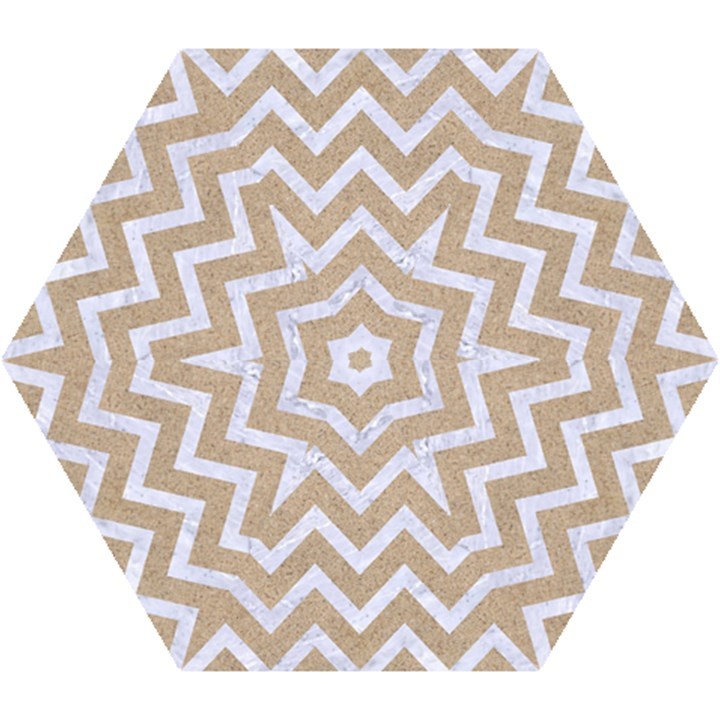 CHEVRON9 WHITE MARBLE & SAND Mini Folding Umbrellas