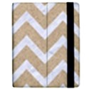 CHEVRON9 WHITE MARBLE & SAND Apple iPad 3/4 Flip Case View2