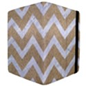 CHEVRON9 WHITE MARBLE & SAND Apple iPad 3/4 Flip Case View4