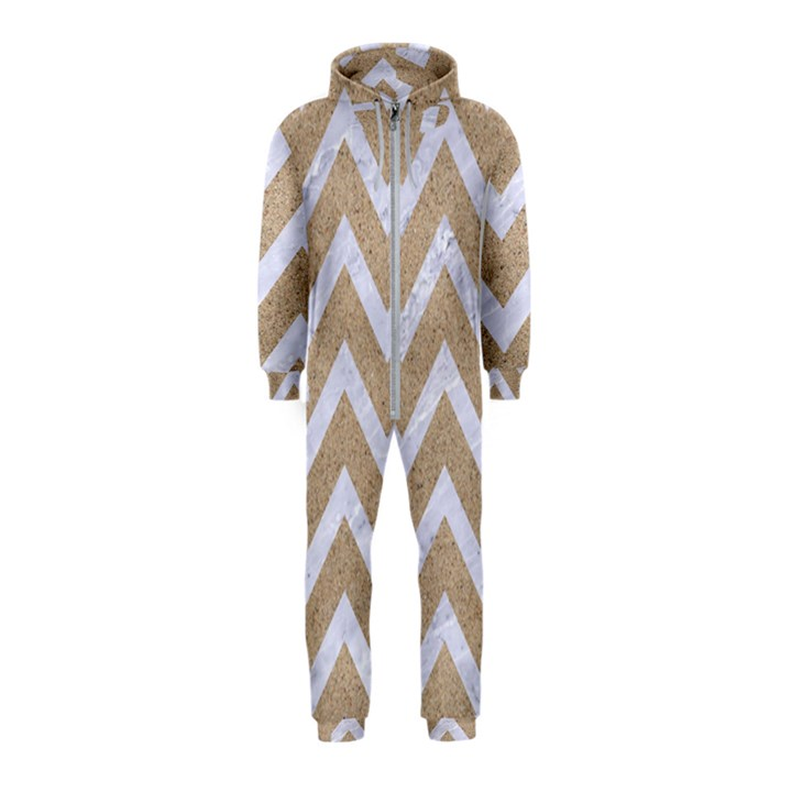 CHEVRON9 WHITE MARBLE & SAND Hooded Jumpsuit (Kids)