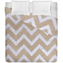 CHEVRON9 WHITE MARBLE & SAND Duvet Cover Double Side (California King Size) View1