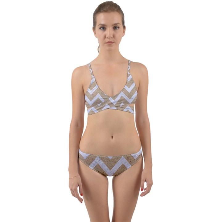 CHEVRON9 WHITE MARBLE & SAND Wrap Around Bikini Set