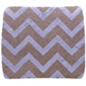 CHEVRON9 WHITE MARBLE & SAND Back Support Cushion View1