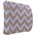 CHEVRON9 WHITE MARBLE & SAND Back Support Cushion View2
