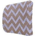 CHEVRON9 WHITE MARBLE & SAND Back Support Cushion View3