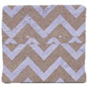 CHEVRON9 WHITE MARBLE & SAND Back Support Cushion View4