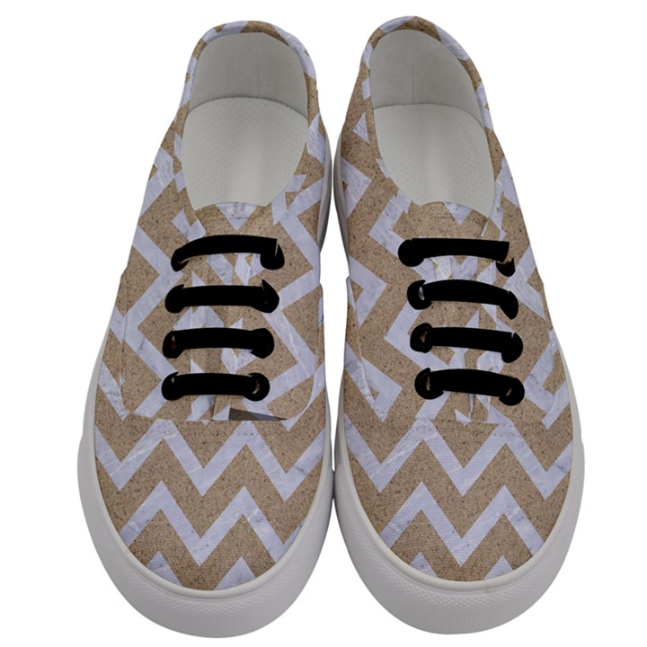 CHEVRON9 WHITE MARBLE & SAND Men s Classic Low Top Sneakers