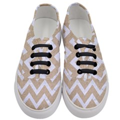 Chevron9 White Marble & Sand Women s Classic Low Top Sneakers