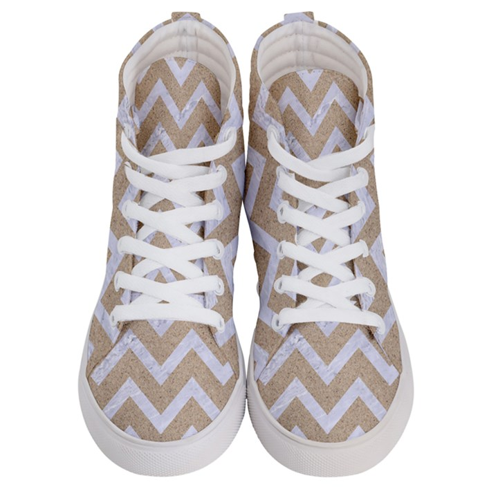 CHEVRON9 WHITE MARBLE & SAND Men s Hi-Top Skate Sneakers