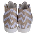 CHEVRON9 WHITE MARBLE & SAND Men s Hi-Top Skate Sneakers View4