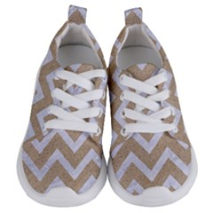 Chevron9 White Marble & Sand Kids  Lightweight Sports Shoes